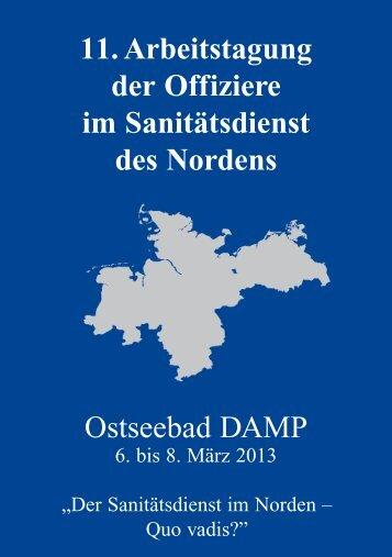 11. Arbeitstagung der Offiziere im Sanitätsdienst des Nordens ...