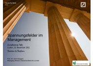 Spannungsfelder im Management - Swiss Excellence Forum