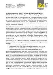 Kooperative Mobilitätssysteme und Services für Energieeffizienz