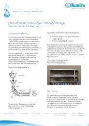 State of the art Technologie - Kurita Europe GmbH