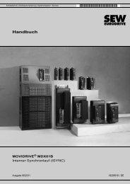 MOVIDRIVE® MDX61B Interner Synchronlauf - SEW-Eurodrive