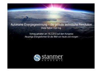 Autonome Energiegewinnung – die grösste ... - Svrswiss.org