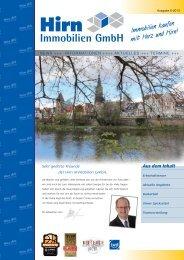 NEWS INFORMATIONEN AKTUELLES TERMINE der Hirn Immobilien GmbH