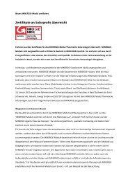 Zertifikate an Solarprofis überreicht - Minergie