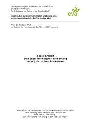 Soziale Arbeit zwischen Freiwilligkeit und Zwang unter ... - eva