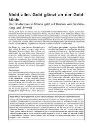Nicht alles Gold glänzt an der Goldküste - Germanwatch
