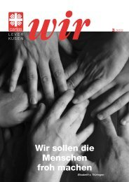 Wir sollen die Menschen froh machen - Caritas Leverkusen