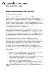 Globales Lernen: Eine Einführung in das Thema - Terre des Hommes