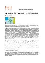 Gespräche für eine moderne Reformation (Michael S ... - pewid.ch