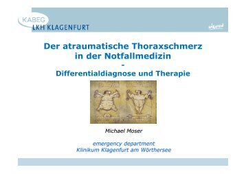Der atraumatische Thoraxschmerz in der Notfallmedizin