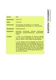 BGH II ZR 17_10 verdeckte Sacheinlage - Karsten + Schubert