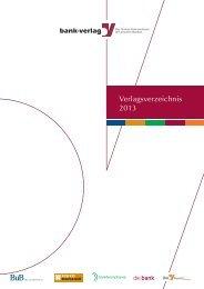 Verlagsverzeichnis 2013 - Bank-Verlag Shop