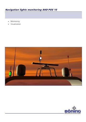 Navigation lights monitoring AHD-POS 10 - t: www.boening.com