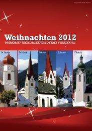 Weihnachten 2012 - SESOS - Seelsorgeraum Oberes Stanzertal