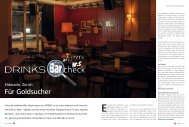 Für Goldsucher - Drinks - Das Magazin für Barkeeper & Gäste