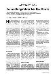 Behandlungsfehler bei Hautkrebs - Ärztekammer Nordrhein
