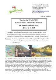Reiseablauf Bulgarien - Naturfreunde