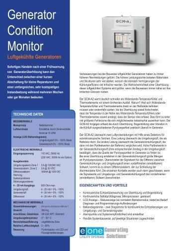 GCM-A2 — Generator Condition Monitor Luftgekühlte Generatoren