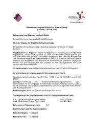 Bekanntmachung der Öffentlichen Ausschreibung ... - Jobcenter EN
