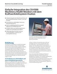 Einfache Integration des CSI 6500 Machinery Health Monitors mit ...