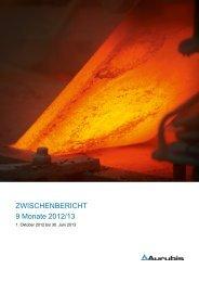 Zwischenbericht 9 Monate 2012/13 (920 KB) - Aurubis