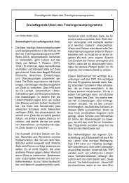 Grundlegende Ideen des ... - Trainingsraum.de