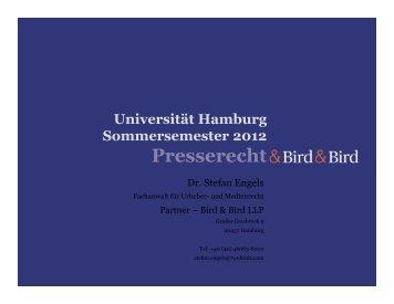 Lehrveranstaltung - Universität Hamburg - Presserecht ...