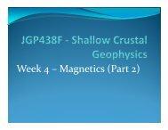 Week 4 – Magnetics (Part 2) 4 g ( )