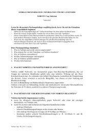 GEBRAUCHSINFORMATION: INFORMATION FR DEN ANWENDER
