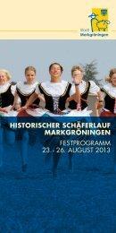Download Festprogramm (PDF) - Stadt Markgröningen