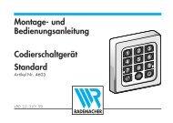 Montage- und Bedienungsanleitung Standard ... - Garagentorantrieb.