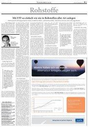 Mit ETF so einfach wie nie in Rohstoffen aller Art ... - Börsen-Zeitung