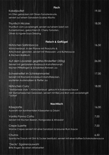 Leichte Gerichte & Vorspeisen Bruschetta mit frischen Tomaten 5,50 ...