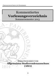 Kommentiertes Vorlesungsverzeichnis SS 2013 - Theologische ...
