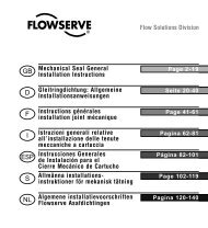 Mechanical Seal General Installation Instructions - Flowserve ...