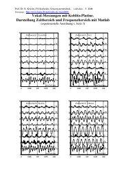 Vokal-Messungen mit Koblitz-Platine. Darstellung Zeitbereich und ...