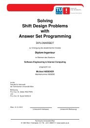 Solving Shift Design Problems with Answer Set Programming - DBAI ...