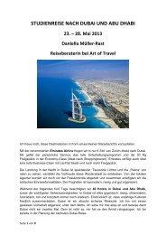 STUDIENREISE NACH DUBAI UND ABU DHABI - Art of Travel