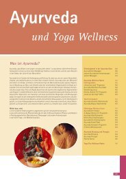 Ayurveda und Yoga Wellness