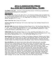 2012-13 associated press all-ohio boys basketball teams