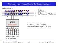 Sharing und invertierte Seitentabellen