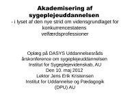 Akademisering af sygeplejeuddannelsen - DaSyS