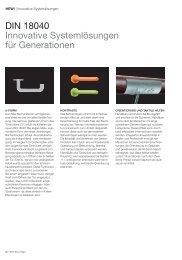 DIN 18040 Innovative Systemlösungen für Generationen - HEWI