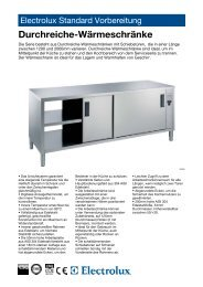 Electrolux Standard Vorbereitung