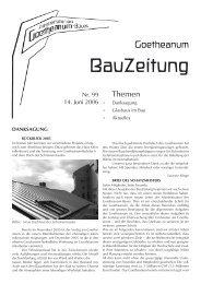 BauZeitung - Goetheanum