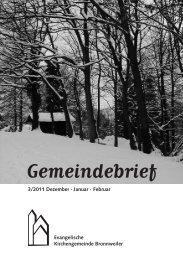 Gemeindebrief - Kirchengemeinde Bronnweiler