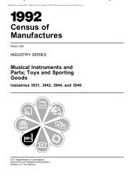 Industry Series, Musical Instruments and Parts - U.S. Census Bureau