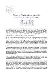 aktuelle Jugendhilfeplanung für das Jahr 2013 - Landkreis Sömmerda