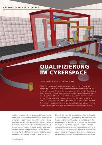 QUALIFIZIERUNG IM CYBERSPACE