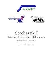 Stochastik I – Scheffler – Diverse Semester - WordPress – www ...